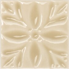"Fashion Accents 2"" x 2"" Dots Decorative Petitfour Insert Tile in Almond (Set of 4)"
