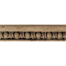 "Fashion Accents 8"" x 2"" Romanesque Decorative Listello in Jacquard Noce"