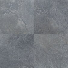 "Florenza 18"" x 18"" Plain Floor Tile in Azzurro"
