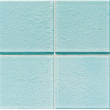 "Molten Glass 4 1/4"" x 4 1/4"" Wall Tile in Sea Breeze"