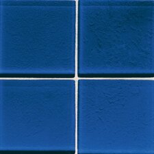 "Molten Glass 4 1/4"" x 4 1/4"" Wall Tile in Blue Hawaii"