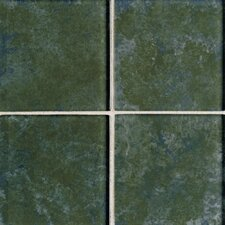 "Molten Glass 2"" x 2"" Multi-Colored Wall Tile in Rain Forest"