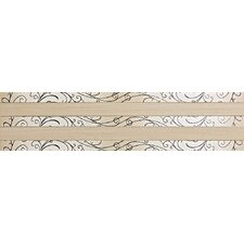 "Spark 24"" x 6"" Decorative Accent Tile in Firelight Flicker / Ember Flare"