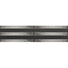 "Spark 24"" x 6"" Decorative Accent Tile in Smoky Glimmer / Midnight Glow"
