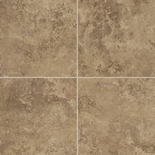 "Alessi 20"" x 20"" Unpolished Field Tile in Noce"