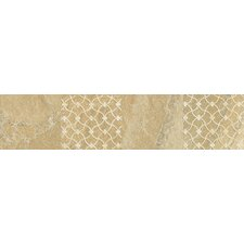 "Ayers Rock 13"" x 3"" Unpolished Decorative Border in Golden Ground"