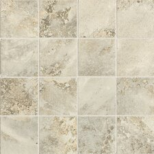 "Fantesca 3"" x 3"" Unpolished Glazed Porcelain Mosaic in Pinot Grigio"