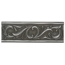 "Metal Ages 12"" x 4"" Chaplet Glazed Decorative Accent in Polished Pewter"