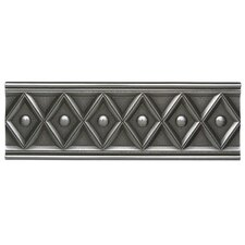 "Metal Ages 12"" x 4"" Corbel Glazed Decorative Accent in Polished Pewter"