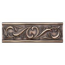 "Metal Ages 12"" x 4"" Chaplet Glazed Decorative Accent in Polished Bronze"