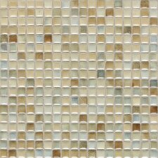 "Fashion Accents 12"" x 12"" Glazed Shimmer Illumini Mosaic in Sand"