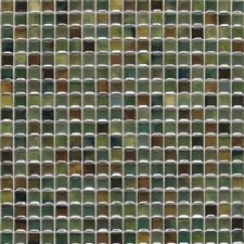 "Fashion Accents 12"" x 12"" Glazed Shimmer Illumini Mosaic in Meadow"
