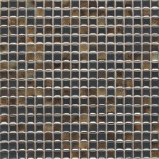 "Fashion Accents 12"" x 12"" Glazed Shimmer Illumini Mosaic in Umber"