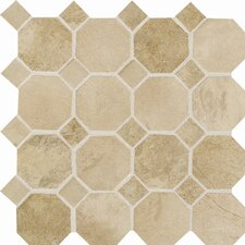 Aspen Lodge Ceramic Unpolished Mosaic Field Tile in Morning Breeze