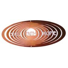 Copper Classic Faith Hope Love Wind Spinner