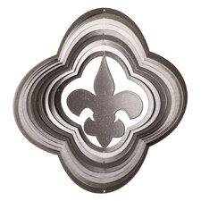 Silver Fleur De Lis Wind Spinner