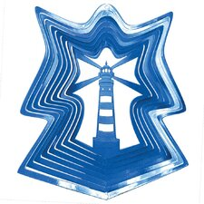 Blue Lighthouse Wind Spinner