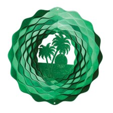 <strong>Iron Stop</strong> Palm Tree Wind Spinner