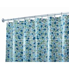 <strong>InterDesign</strong> EVA Vinyl River Rocks Shower Curtain