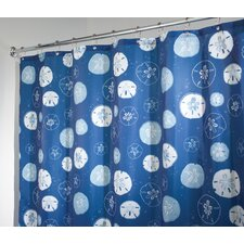 Sand Dollar Self Adhesive Polyester Shower Curtain