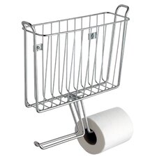 Classico Wall Mounted Magazine Rack and Toilet Paper Holder