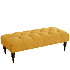 Velvet Upholstered Bedroom Bench