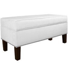 Velvet Upholstered Storage Bedroom Bench