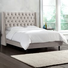 Mystere Velvet Upholstered Wingback Bed