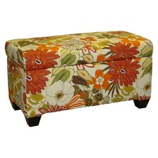 <strong>Skyline Furniture</strong> Cotton Storage Ottoman