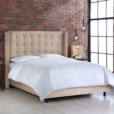 <strong>Skyline Furniture</strong> Nail Button Tufted Wingback Bed