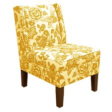 Wingback Flower Side Chair