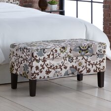 Silsila Fabric Storage Bedroom Bench