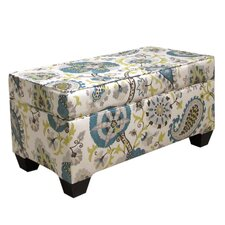 Fabric Wood Storage Bench