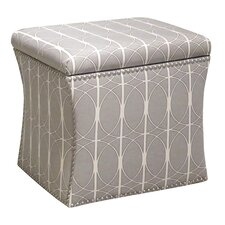 <strong>Skyline Furniture</strong> Nail Button Storage Ottoman
