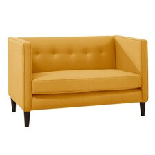 Linen 5 Button Chaise Loveseat
