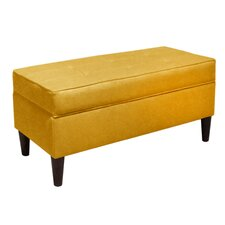 Linen Wood Storage Bench