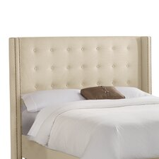 <strong>Skyline Furniture</strong> Nail Button Tufted Cotton Wingback Headboard