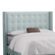 Velvet Button Tufted Upholstered Headboard
