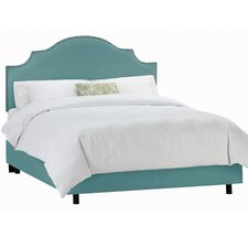 Nail Button Upholstered Panel Bed
