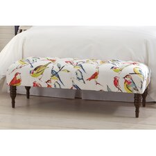 Tufted Fabric Wood Bedroom Bench