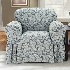 <strong>Sure-Fit</strong> Scroll Classic Club Chair Skirted Slipcover