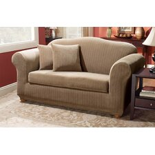 <strong>Sure-Fit</strong> Stretch Pinstripe Two Piece Loveseat Slipcover