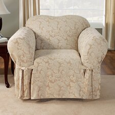 Scroll Classic Club Chair Skirted Slipcover