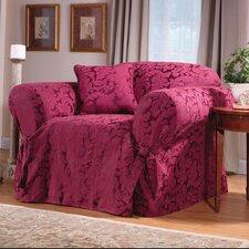Scroll Classic Club Chair Skirted Slipcover