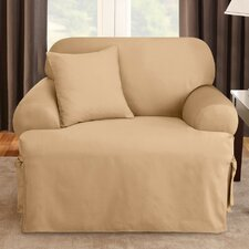 <strong>Sure-Fit</strong> Logan Chair T-Cushion Slipcover