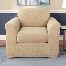 <strong>Sure-Fit</strong> Stretch Squares Two Piece Chair Slipcover