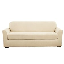 Stretch Pinstripe Sofa Slipcover