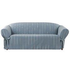 Grain Sack Stripe Sofa Slipcover