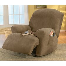 <strong>Sure-Fit</strong> Stretch Pique Recliner T-Cushion Slipcover