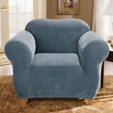 <strong>Sure-Fit</strong> Stretch Royal Diamond Box Cushion Chair Slipcover